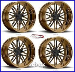 22 Pro Wheels Rims Forged Billet Bronze Black Custom Offset Multi Piece