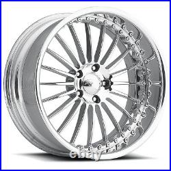 26 Pro Wheels P4 Custom Forged Billet Rims Intro Line Foose Staggered