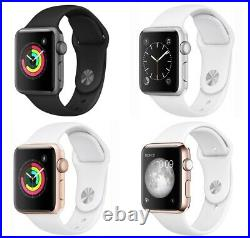 Apple Watch 1st Gen 38/42MM Aluminum Case Space Gray Silver Gold Rose Sport Band