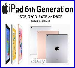 Apple iPad 6th Generation 9.7 Wifi 32GB / 12GB Rose Gold / Space Grey / Silver