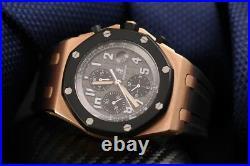Audemars Piguet Royal Oak Offshore Chronograph 42mm Rose Gold Rubber Strap Watch