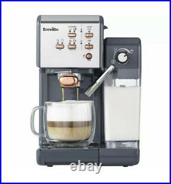 BREVILLE One-Touch VCF109 Coffee Machine Graphite Grey & Rose Gold