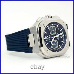 Bell & Ross Instruments BR 05 Chrono Blue Steel Wristwatch BR05C-BU-ST/SRB
