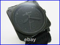 Bell & Ross Phantom BR03-92-S Automatic Black Dial PVD Nylon Band Men's