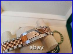 Brand New 2021 Rolex Datejust 126331 Rose Gold Wimbledon Dial Fluted Bezel