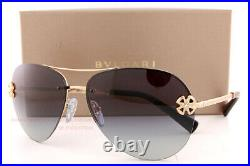 Brand New BVLGARI Sunglasses BV 6137B 20148G Gold/Gray Gradient For Women