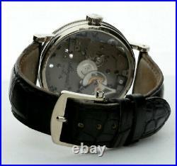 Breguet Tradition 50 hour power reserve 18K WG skeleton #7027 watch 38MM mint