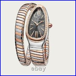 Bulgari Serpenti Tubogas Steel 18K Pink Gold 35 mm Watch 102681 SP35C14SPGD. 1T