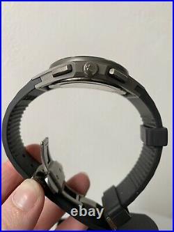 Bulova Curv 98A162 Titanium Chronograph Black Silicon Strap Watch