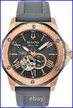 Bulova Marine Star Collection 200m Stainless Steel Mens Watch 98A228