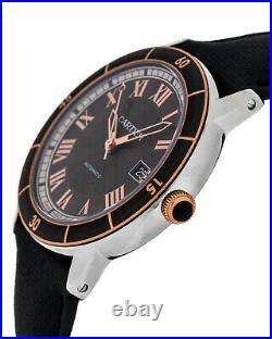 Cartier Ronde Croisiíre 42mm Grey Dial18K Pink Gold BLK Calfskin Watch W2RN0005