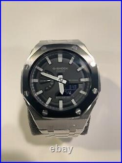 Casio G-Shock GA-2100 Steel Casioak Custom Watch AP Royal Oak Style Mod