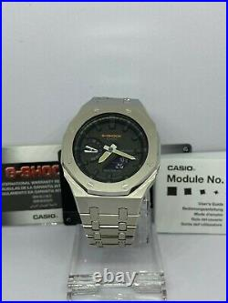 Casio G-shock Watch Ga2100 Casioak & Ap Style Royal Oak Stainless Bracelet Combo