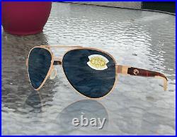 Costa Del Mar Loreto Rose Gold Tortoise Frame Gray 580 Plastic Polarized Lens