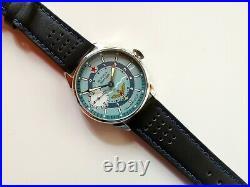 Custom Made Molnija 3602 Converted Into Wrist Watch Military Aviator Vintage