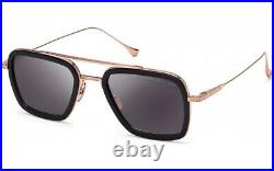 DITA FLIGHT 006 7806 E Shiny Black Rose Gold Gray Lens Aviator Men Sunglasses