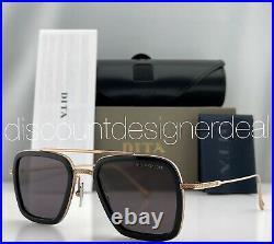 DITA FLIGHT 006 Sunglasses Rose Gold Black Frame Gray Lenses 7806-E-BLK-RGD-52