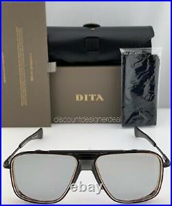 DITA INITIATOR Sunglasses Matte Black Rose Gold Light Gray Lens DTS116-58-03 NEW