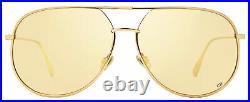 Dior Pilot Sunglasses DiorByDior DDBSQ Gold/Copper 60mm By Dior