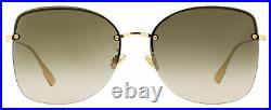 Dior Rimless Sunglasses Stellaire 7F 000HA Gold 62mm