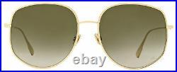 Dior Square Sunglasses DiorByDior 2 00086 Gold 58mm By Dior