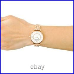 Emporio Armani Classic Ar1909 Mother Of Pearl Rose Gold Ladies Watch