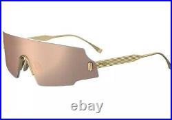 Fendi Forceful FF 0440/S OOO/OJ Rose Gold Mirror Lens Shield Unisex Sunglasses