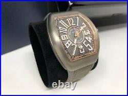 Franck Muller Vanguard Titanium Rose Gold V45 Sc Dt Br Tt 5n Gr Watch