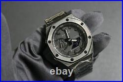 GA-2100-141 Carbon Casioak Metal Band AP Royal Oak New Black Version Custom Made