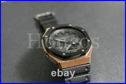 GA-2100-141 Casioak AP Royal Oak New Black Version Custom Made Rose Gold Black
