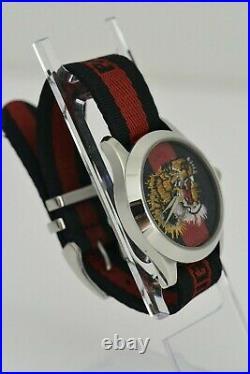 GUCCI G Timeless Tiger Head ref. 126.4 Quartz 38mm Watch