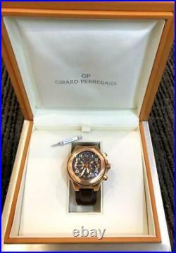 Girard Perregaux Laureato EVO3 18kt Rose Gold Brown Leather Mens Watch 80180