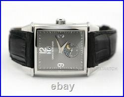 Girard Perregaux Vinatge 1945 Moonphase Date 2580 Platinum Mens Wristwatch