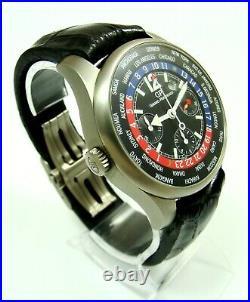 Girard-Perregaux Ww. Tc Chronograph WORLD TIME 43MM Titanium Ref 49805, SERVICED