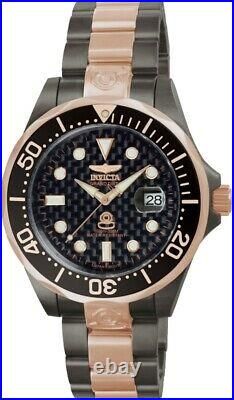 Invicta Men's 47mm Grand Diver Automatic Black and Rose Gold Bracelet SS Watch