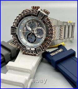 Invicta Reserve Bolt Hercules Men's 56mm MOP Swiss Chronograph Watch Band Set