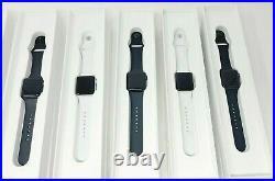 LOT OF 6 Apple Watch Series 3 38mm GPS Space Gray Case Black ACC LOCKED READ