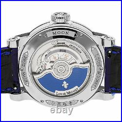 Louis Moinet Moon Limited Edition Auto 43mm Steel Mens Strap Watch LM-45.10B. MO