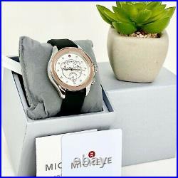 MICHELE Cape Pink Gold-Tone Misty Rose Topaz Watch MWW27E000001 $495 100% Auth
