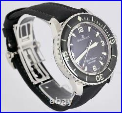 MINT Blancpain Fifty Fathoms Automatic 5015 Stainless Steel 45mm Black Watch