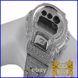 Men Fully Icy Diamond Simulated Authentic G Shock DW6900 White Gold Custom Watch