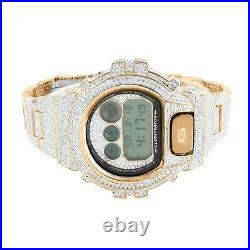 Men's G-Shock DW6900 14k Rose Gold Tone Custom Bezel Band Hip Hop Watch