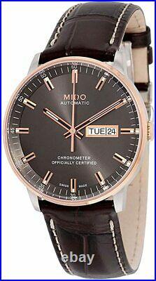 Mido Commander II M0214312606100 Grey Dial Leather Strap Men's Watch