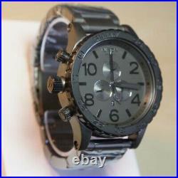 NEW Authentic NIXON Watch Mens 51-30 CHRONO Gunmetal A0831062 GIFT FREE SHIPPING