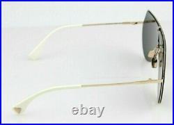 NEW Genuine FENDI EYELINE Gold Copper Dark Grey Aviator Sunglasses FF 0193S DDB