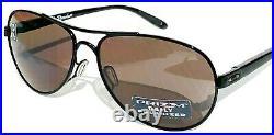 NEW Oakley TIE BREAKER BLACK AVIATOR POLARIZED PRIZM Grey Womens Sunglass 4108