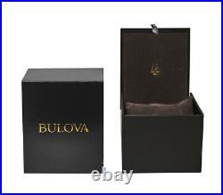 New Bulova Precisionist Black Chronograph Dial Rubber Strap Men's Watch 98B358