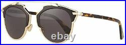 New Christian Dior So Real Leather P7P Rose Gold Black Mirrored Sunglasses Italy