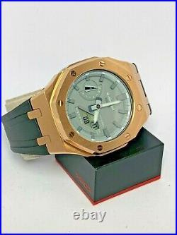 New Custom Rose Gold AP Casioak Offshore Casio G-Shock GA-2110ET-8A Watch