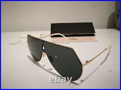 New FENDI EYELINE FF 0193/S DDB Sunglasses, COPPER / DARK GREY Lens